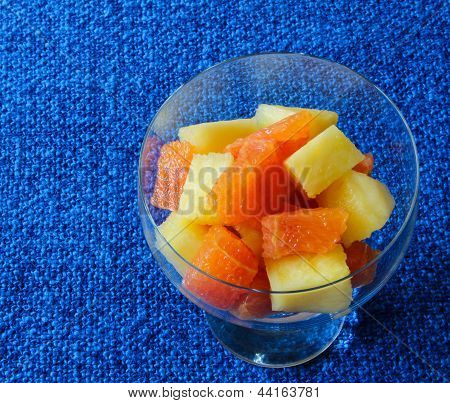 Blood orange and pineapple fruit salad