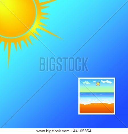 Beauty Photo Beach Vector Illustration
