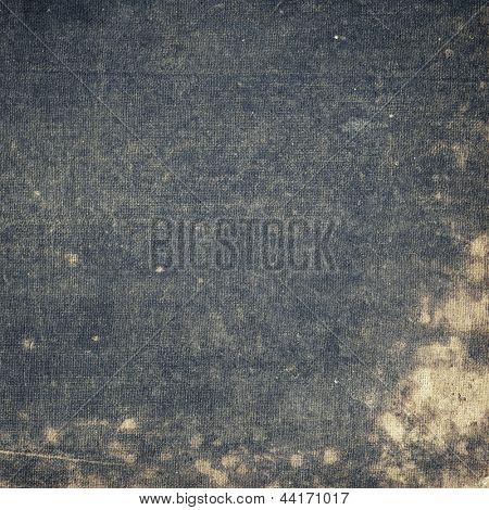 Aged canvas texture, old book cover