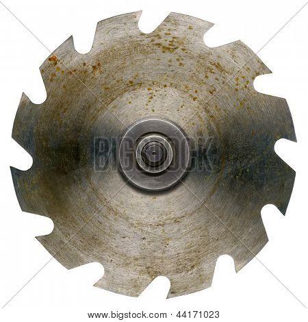 Old rusty circular saw blade