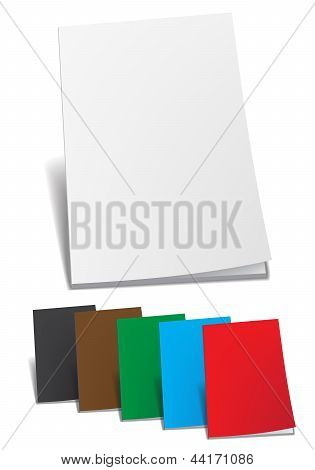 Empty color brochure