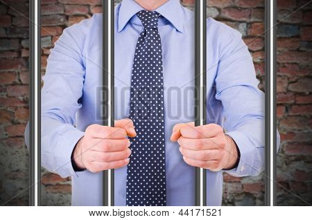 Businessman in jail.