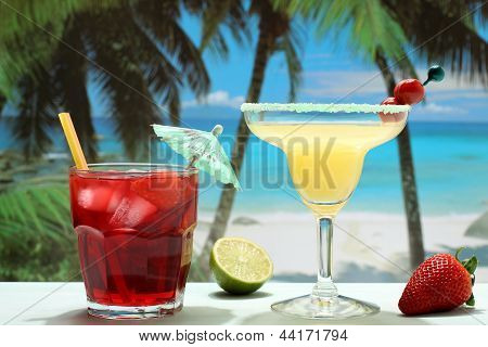 summer cocktails on the beach