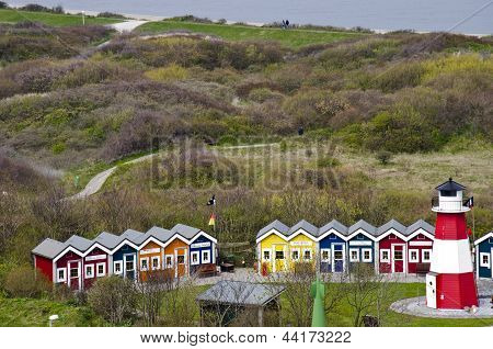 Germany - Helgoland - Resort of cottages