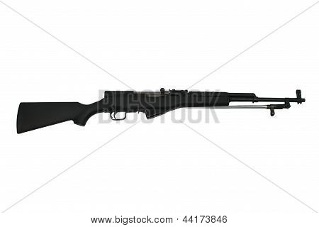 SKS Assault Rifle Isolated On White