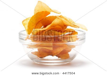 Potato Chips In The Dish