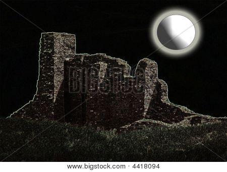 Abo Ruins- San Gregorio Mission- Salinas Pueblo-abstract