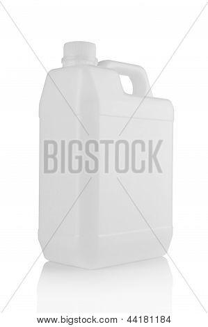 White Plastic Canister