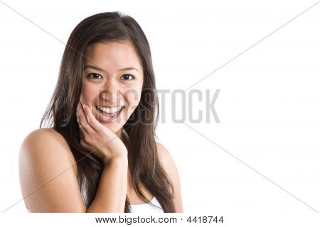Beautiful Happy Asian Woman