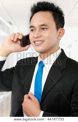 Business Man Calling
