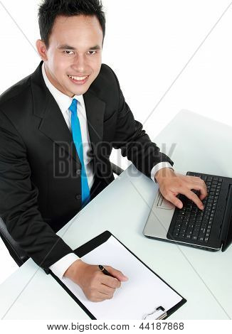 Young Business Man Working
