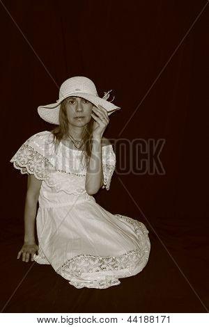 Woman In A Sunhat