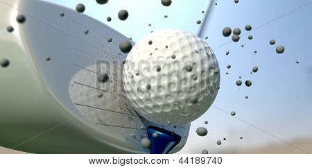 Golf Ball And Club Impact