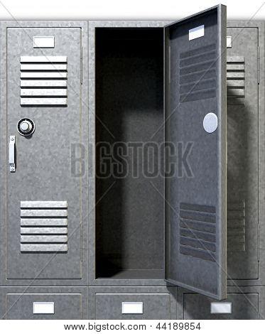 Grey School Lockers Perspective