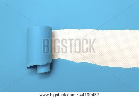 Torn Blue Paper With Space For Text