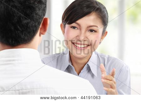 Business People Talking On Business Meeting