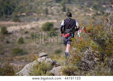 hard marathon mountain race, descent