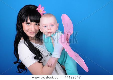 Happy Woman With Newborn