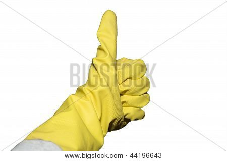 Yellow Glove Spring Cleaning
