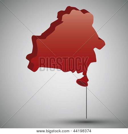 map of Belarus in form of a balloon