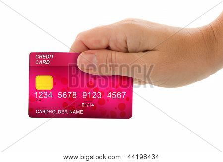 hand holding credit card for payment
