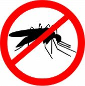 image of malaria parasite  - Vector illustration of a malaria warning showing an infectious mosquito - JPG