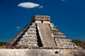 picture of ziggurat  - a Ziggurat in Chichen Itza Yucatan Mexico - JPG