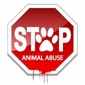 foto of blood drive  - Illustration stop the abuse of animals as a sign of animal protection - JPG