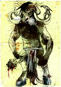 picture of minotaur  - An hand - JPG