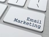 stock photo of keyboard  - Email Marketing Concept - JPG