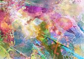 stock photo of vivid  - Abstract grunge texture with watercolor paint splatter - JPG