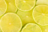 picture of orange peel  - Lime slices background - JPG