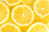 stock photo of section  - Lemon slices background - JPG