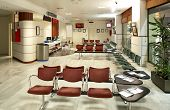stock photo of passenger train  - Waiting room and sales office at railway station - JPG