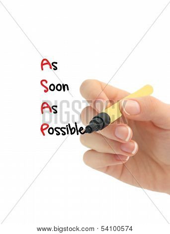 asap as soon as posible