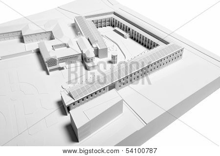 Architectural Model Of Building Restoration