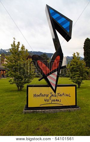 Montreux Jazz Festival Sign