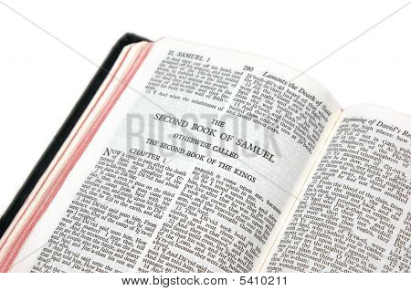 Bible Open To Samuel Ii