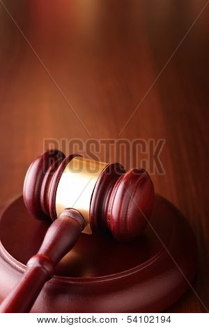 Gavel On A Sounding Block, Symbol Of Authority