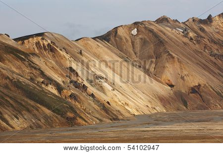 Volcanic Landscape With Rhyolite Formations.