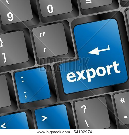 Export Word On Computer Keyboard Key Button