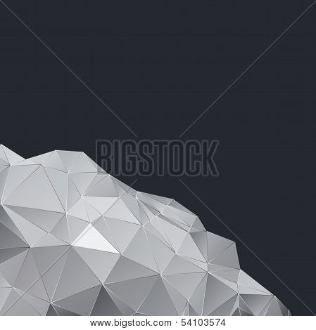 Polygonal design Abstract geometric background