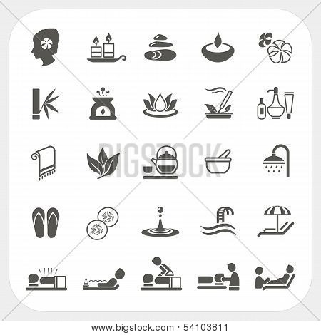 Spa and massage Icons Set