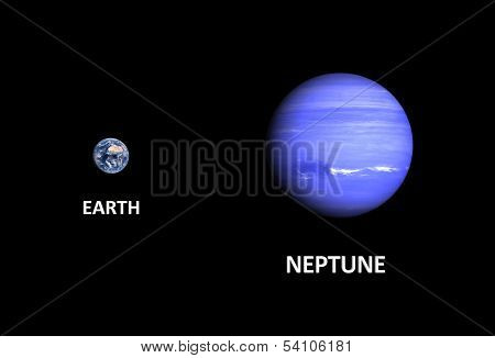 Planets Earth And Neptune