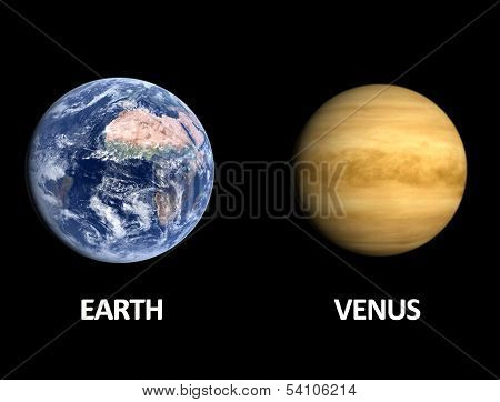 Planets Earth And Venus