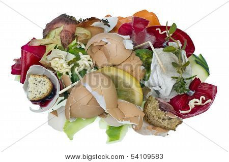 Food Waste Isolated Concept