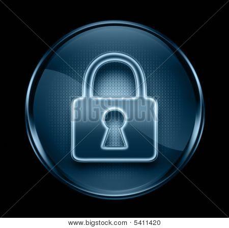 Lock Icon Dark Blue