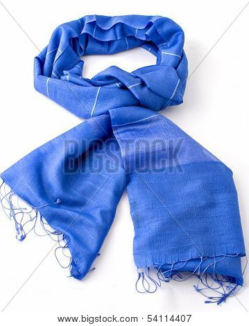 blue scarf or pashmina
