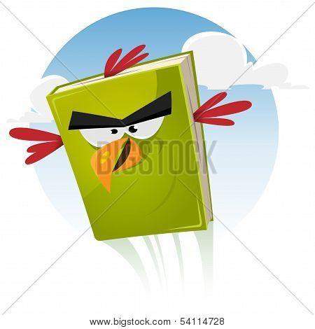 Toon Bird Book Character Flying