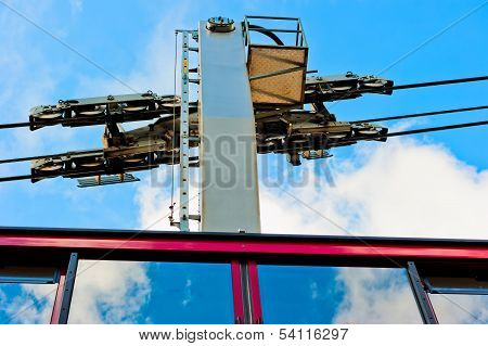The Mechanism Of The Cable Car And Part Of The Trailer